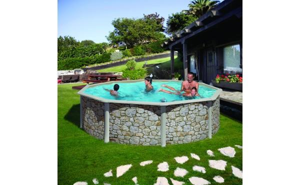 Prefabricated Round Pool San Marina Iraklion 4.60x1.20 M