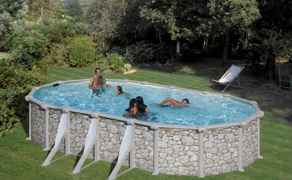 Pool – Stone Imitation, San Marina Iraklion 7.30x3.75x1.20 M
