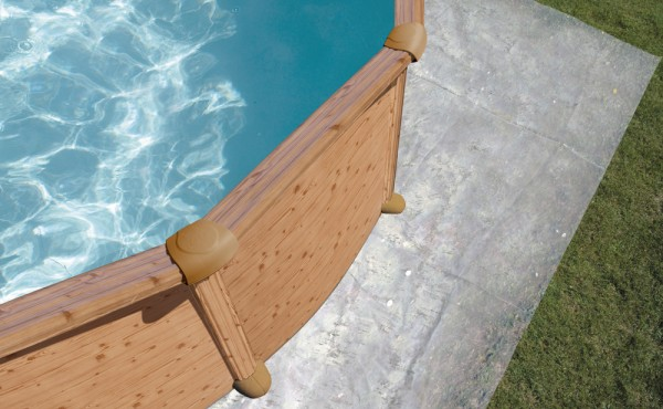 Round Pool Gre Mauritius Imitation Of Wood 4.60x1.32 M