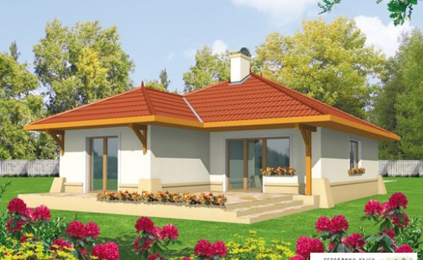 One storey prefabricated house LORA   128 SQ.M + GARAGE 27 SQ.M