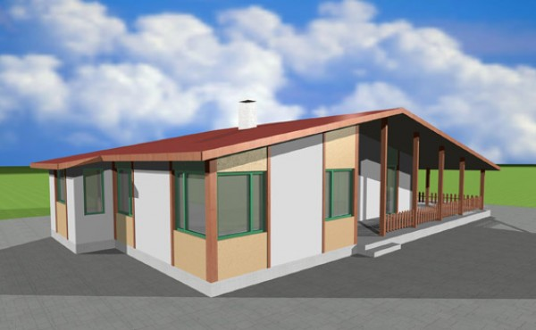 One storey prefabricated house EKO LIVING 103