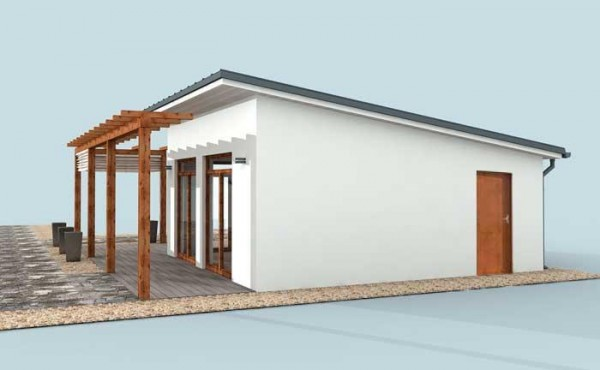 One-storey prefabricated house EKO LIVING 52