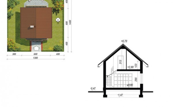 Two storey prefabricated house Emily 70