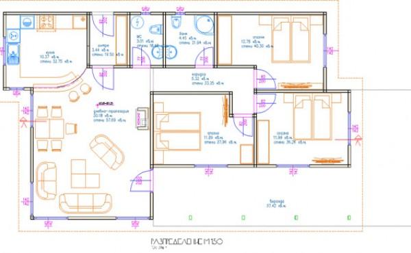 One storey prefabricated house EKO LIVING 103
