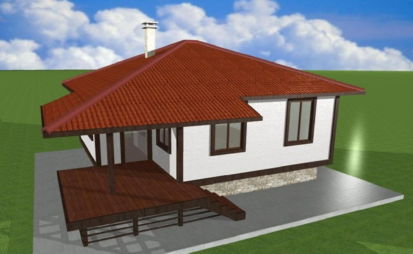 One-storey prefabricated house EKO LIVING 60