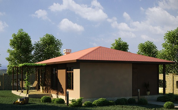 One-storey prefabricated house EKO LIVING HOUSE 65