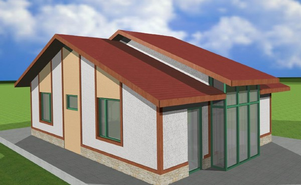 One-storey prefabricated house EKO LIVING 70