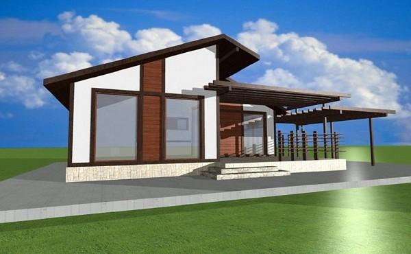 One-storey prefabricated house EKO LIVING 61