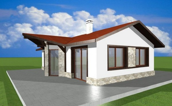 One-storey prefabricated house EKO LIVING 78