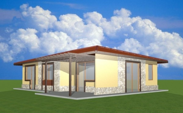One-storey prefabricated house EKO LIVING HOUSE 87