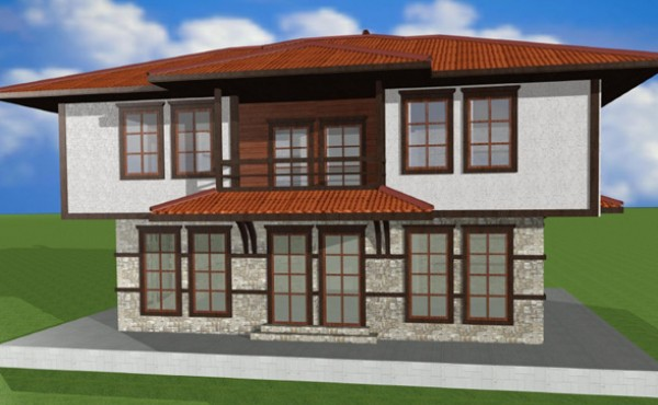 Two storey prefabricated house Eko Living Grand 195