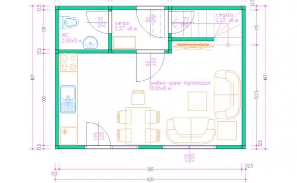 Two storey prefabricated house Eko Living Grand 70