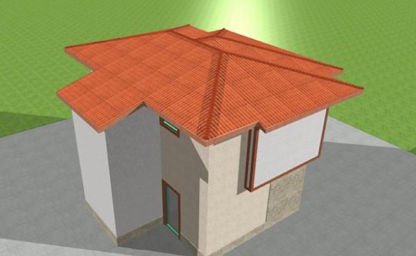 Двуетажна сглобяема къща Eko Living Grand 90