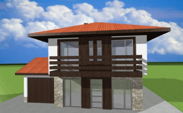 Two storey prefabricated house Eko Living Grand 95