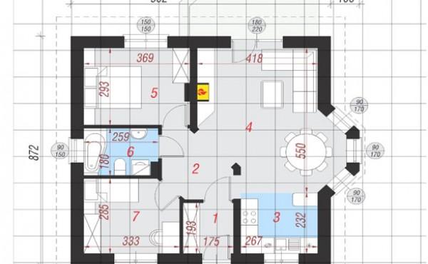 One-storey prefabricated house МАРАЯ 82