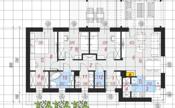 Едноетажна сглобяема къща МАРИСА 110