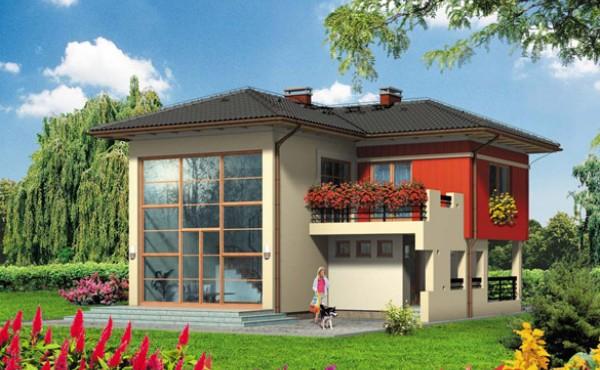 Двуетажна сглобяема къща Мод