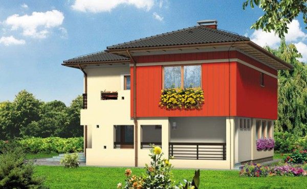 Two storey prefabricated house Mod