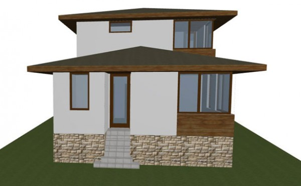 Two storey prefabricated house Topoli
